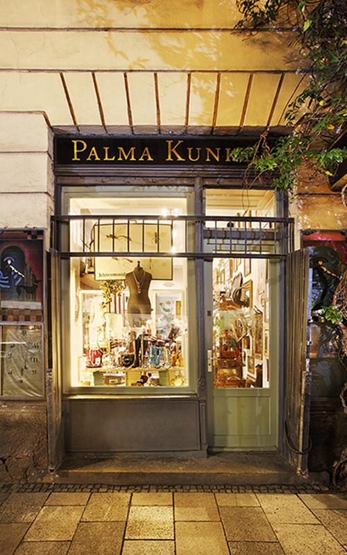 Palma Kunkel, Antikes und Schmuck in München, der Laden
